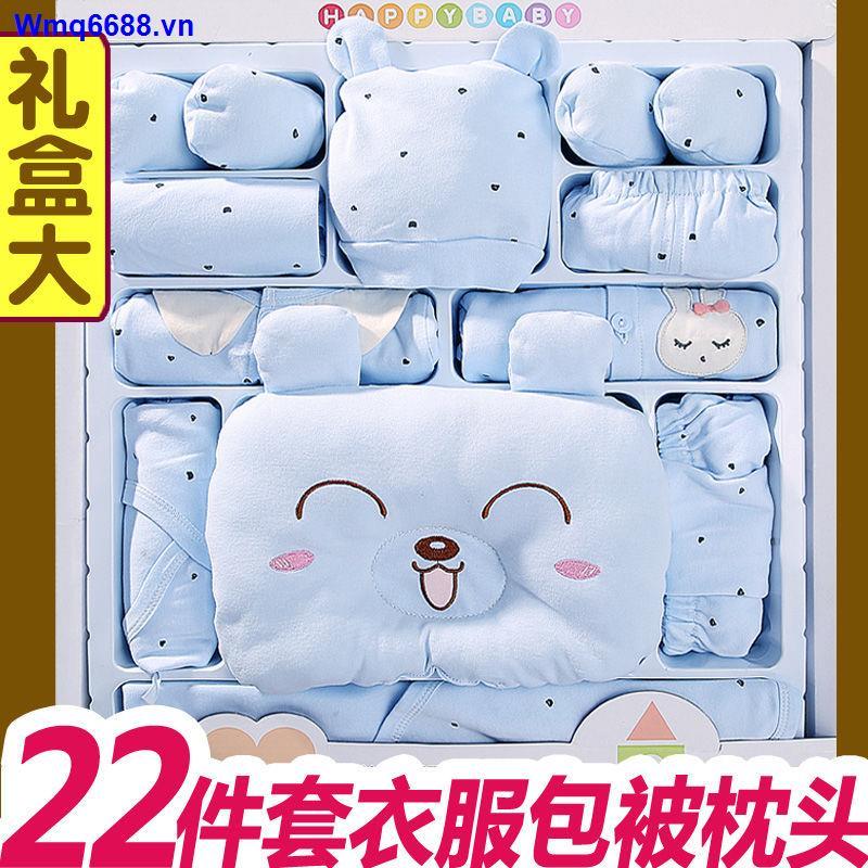 Hộp Quà Tặng Quần Áo Vải Cotton Mỏng Làm Quà Tặng Cho Bé Sơ Sinh 0-3 Tháng Tuổi