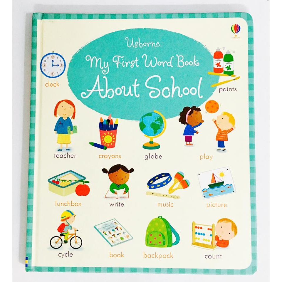 SÁCH - MY FIRST WORD BOOK ABOUT SCHOOL