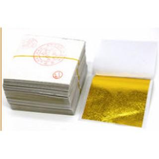 Lá dát vàng lá dát bạc 9*9 cm nguyên liệu làm slime