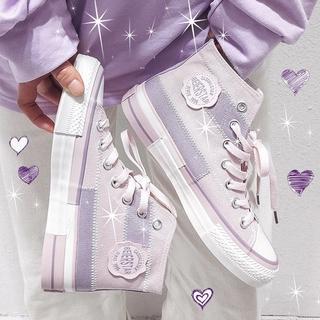 Giày Thể Thao Canvas Cổ Cao Thời Trang 2020 Cho Nữ