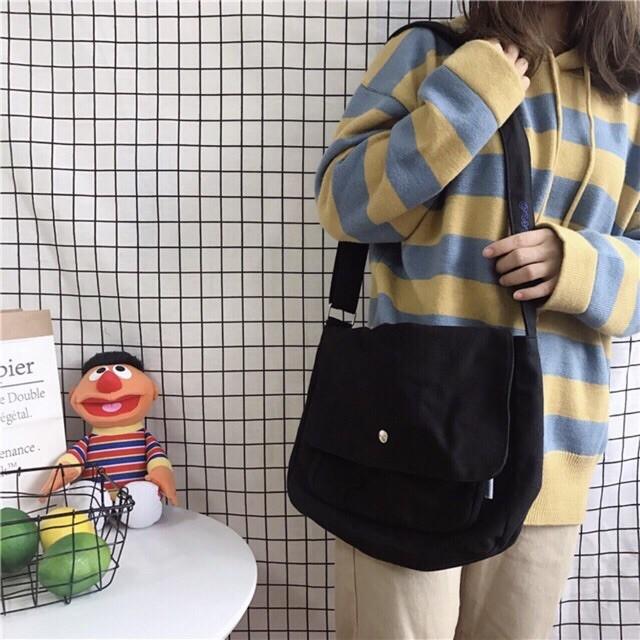 [Gía Sỉ Tại Xưởng] Túi tote vải bố đựng đồ canvas đeo chéo Hazin thời trang mới nhất ,phong cách Hàn Quốc HZ 43