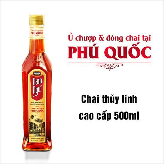Nước Mắm Nam Ngư Cá Cơm Tươi ủ chượp và đóng chai tại Phú Quốc 500ml