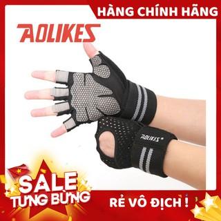 Găng tay nửa ngón tập gym, thể thao Aolikes AL113b