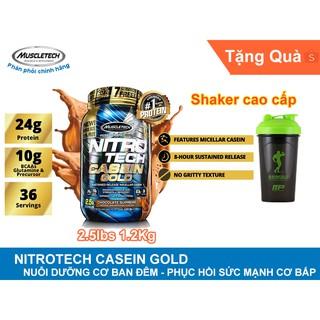 (Có Quà) Nitro Casein Gold 2.5lbs (1.2kg) – Sữa Dưỡng / Hồi phục cơ + Shaker cao cấp