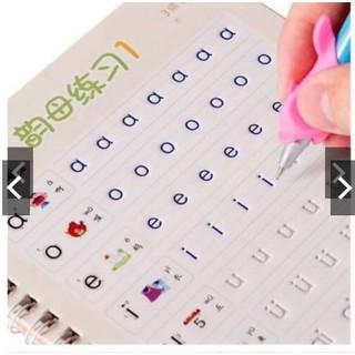 sét 3 quyển chữ số hình cho bé tặng bút KLOAN