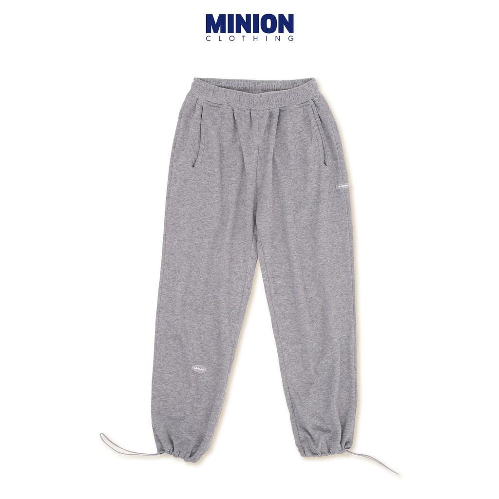 Quần jogger nỉ MINION CLOTHING bo gấu Unisex nam nữ dáng rộng joger lưng thun co giãn Ulzzang Streetwear Hàn Quốc Q2801