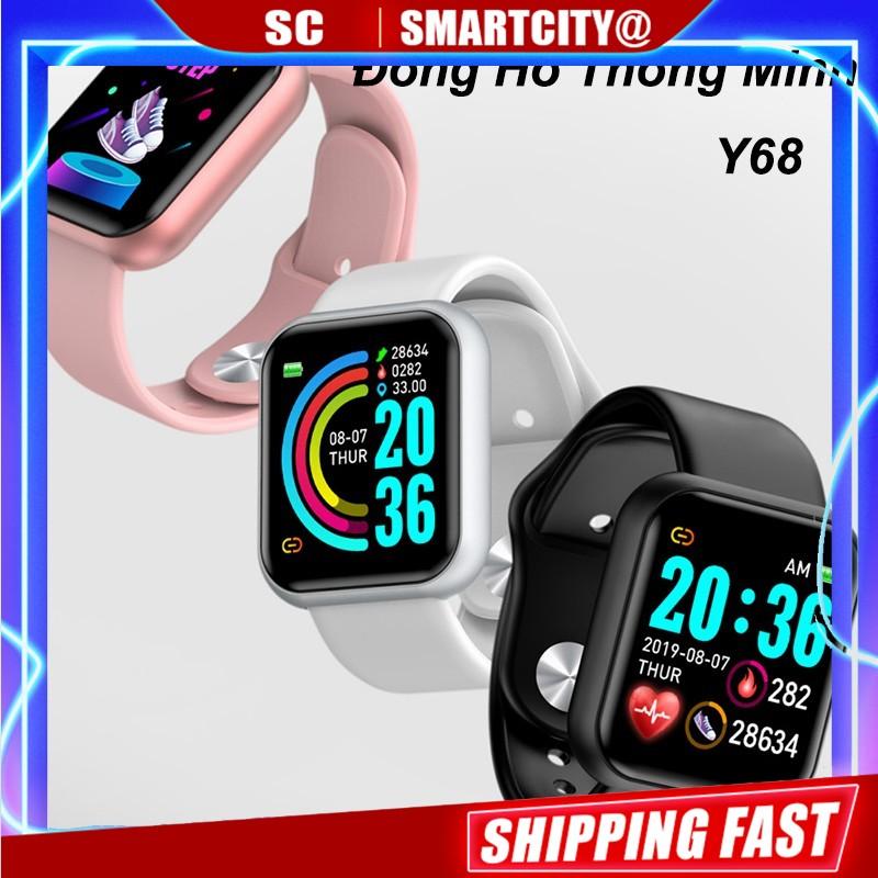 Đồng Hồ Thông Minh Y68 Chống Nước Kết Nối Bluetooth Theo Dõi Sức Khỏe Tiện Dụng