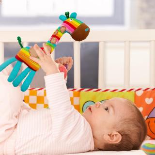 s❤u Shaking Bell Cartoon Animal Rattles Toys Infant Early Education Baby Doll