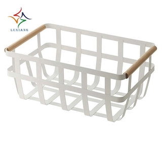 """in stock""Wrought Iron Storage Basket Storage Basket Household Items Kitchen Dishes Drain Basket"