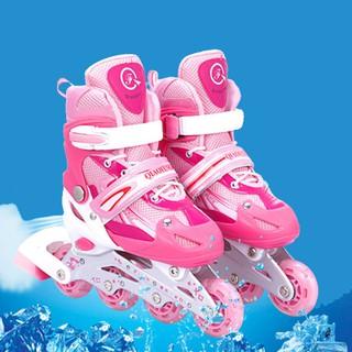 Giày trượt patin cho bé có đèn 4 bánh xe không full phụ kiện