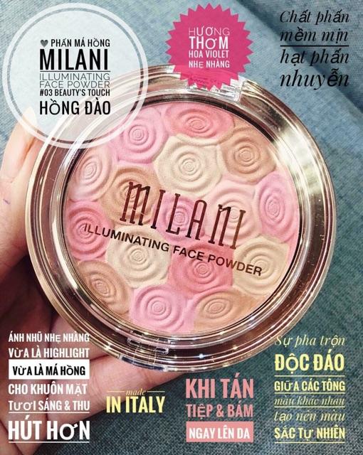 Phấn Má Hồng Milani Illuminating Face Powder - 03 Beauty's Touch - Hồng Đào