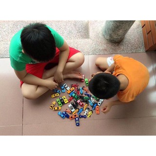 Bộ đồ chơi 50 chiếc ô tô mô hình cho bé yêu