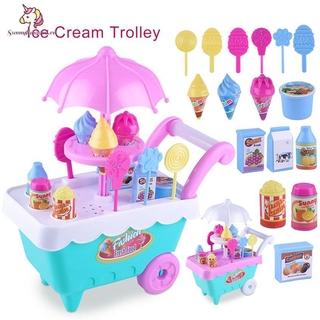 Learning Children's Simulation Candy Ice Cream Cart Girls Puzzle House Toys