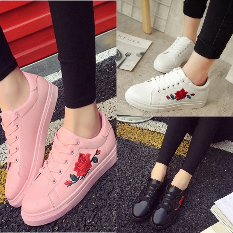 Women Printed Stylish Outdoor Casual Flat Heel Casual Shoes