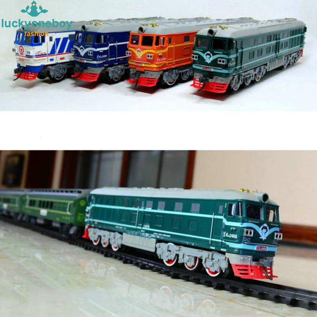 Music Track Trains Electric Toy Long Rail Cars Classic Children's Toys Train