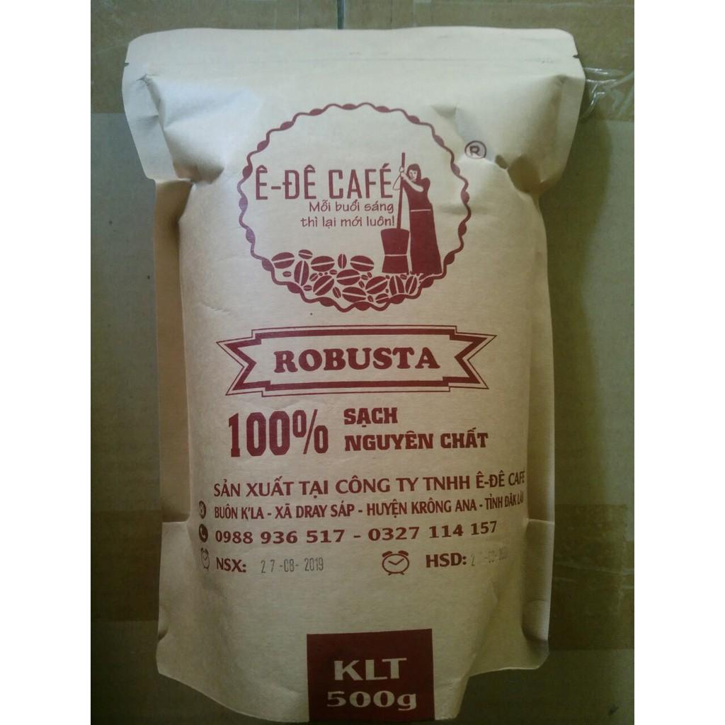Cà phê Ê-đê cafe bột hữu cơ rang xay thủ công 100% Robusta, Arabica... gói 500g