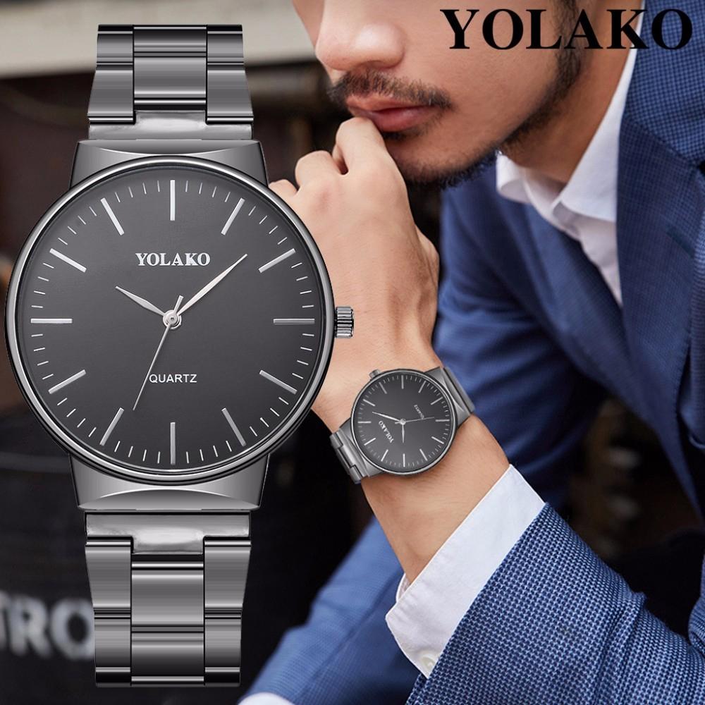 Đồng hồ kim loại chống rỉ thiết kế sang trọng cho nam