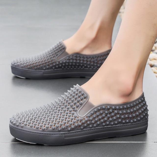 Giày nam nhựa gai đi mưa, đi biển