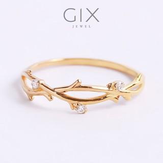 Nhẫn bạc đơn giản nụ hoa mạ vàng rẻ đẹp Gix Jewel SPGN21 thumbnail