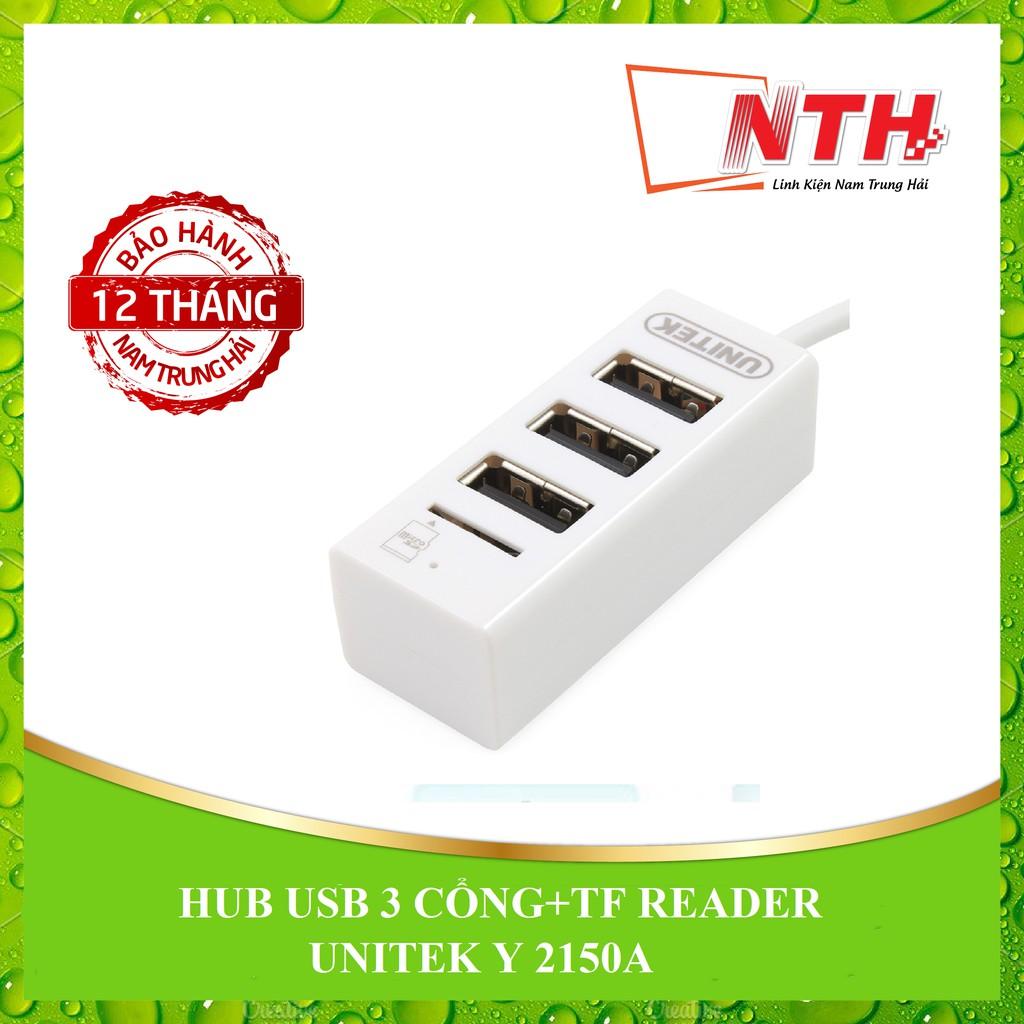 [NTH] HUB USB 3 CỔNG + TF READER UNITEK Y 2150A