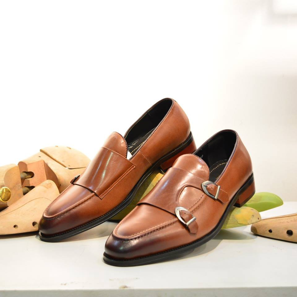Giày Double Monkstrap Loafer BTAHOME cao cấp LX 226-2