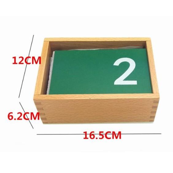 Giáo cụ Montessori - Bộ số cát nhám từ 0 đến 9