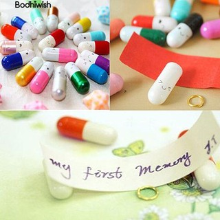 ☎50 Pcs Half Color Pill Message Storage Bottle Capsule Love Friendship