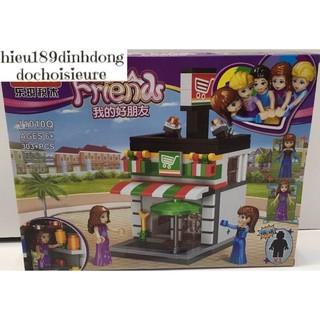 Lắp ráp xếp hình Lego Friends princess 1010Q: Siêu thị mini 303 mảnh