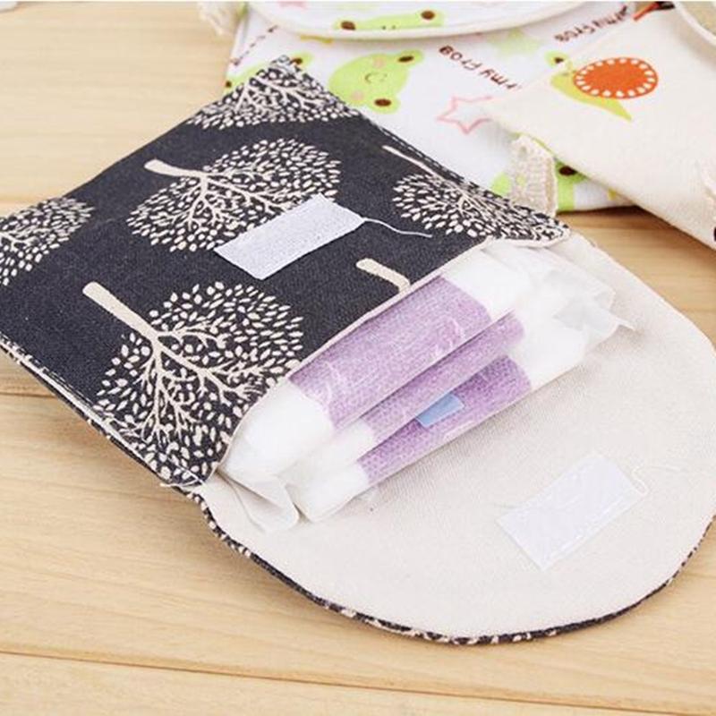 Set 5 Túi Đựng Băng Vệ Sinh Chất Liệu Cotton Cao Cấp