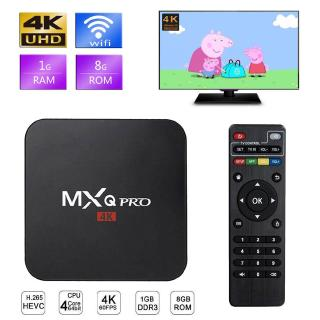 MXQ PRO Smart Android 7.1 TV BOX 1GB + 8GB H3 Quad Core Suppot H.265 UHD 4K 2.4GHz WiFi Media Player