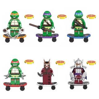 Lego blocks 6 chiếc / bộ Ninja God Rùa Da Vinci Sunkist Aberdeen Building Block Toy