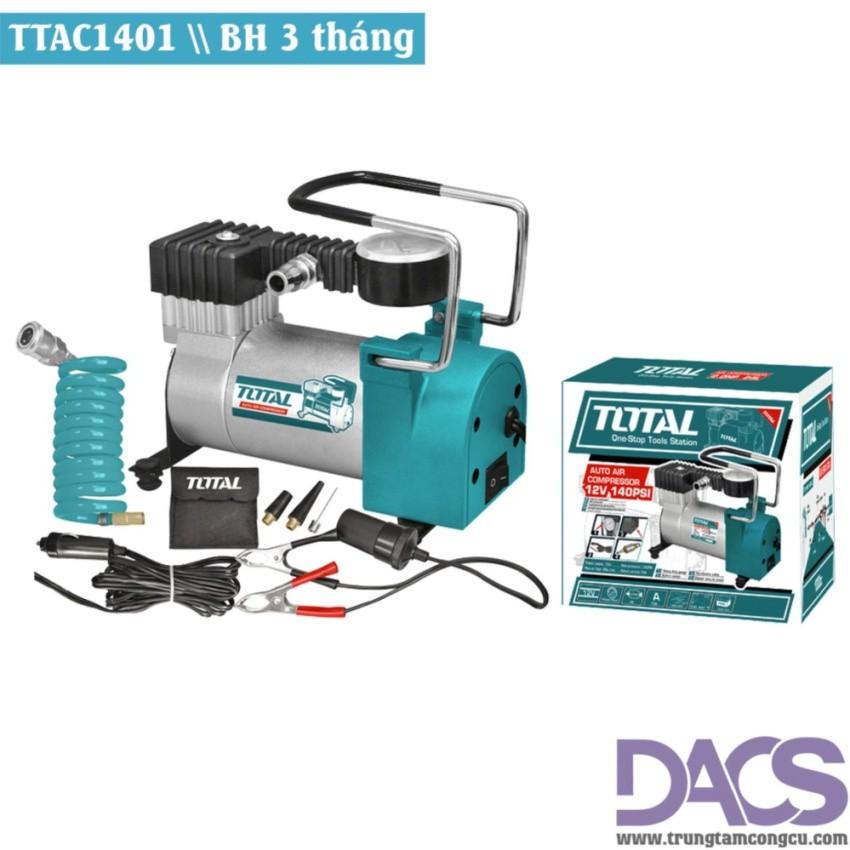 Máy nén khí mini dùng trong Ôtô-Total TTAC1401 (Tặng kèm bộ phụ kiện hơi) - 3012747 , 543986708 , 322_543986708 , 529000 , May-nen-khi-mini-dung-trong-Oto-Total-TTAC1401-Tang-kem-bo-phu-kien-hoi-322_543986708 , shopee.vn , Máy nén khí mini dùng trong Ôtô-Total TTAC1401 (Tặng kèm bộ phụ kiện hơi)