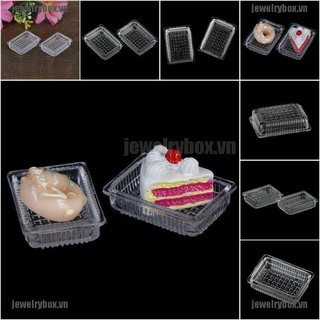 JX 2Pcs 1:12 Dollhouse miniature accessories resin tray simulation food plate toys[VN]