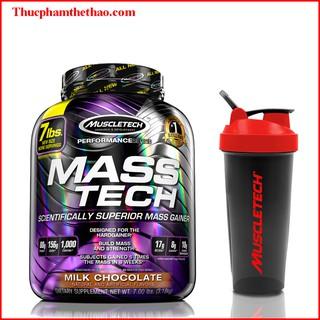 Sữa tăng cân Mass Tech – hộp 7lbs – Vị Chocolate – Kèm quà tặng – Hàng Chính Hãng Muscletech USA
