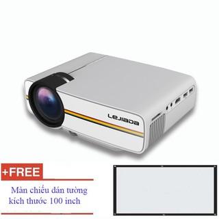 Máy chiếu mini YG - 400 HD, máy chiếu mini cho gia đình The Royal's + Tặng màn chiếu 100 inch