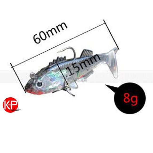 Một Mồi Cá Giả Trong Suốt 6cm - 8g