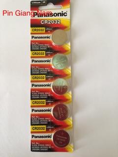 [Mã ELFLASH5 giảm 20K đơn 50K] Pin CR2032 Panasonic 3V Lithium vỉ 5 viên
