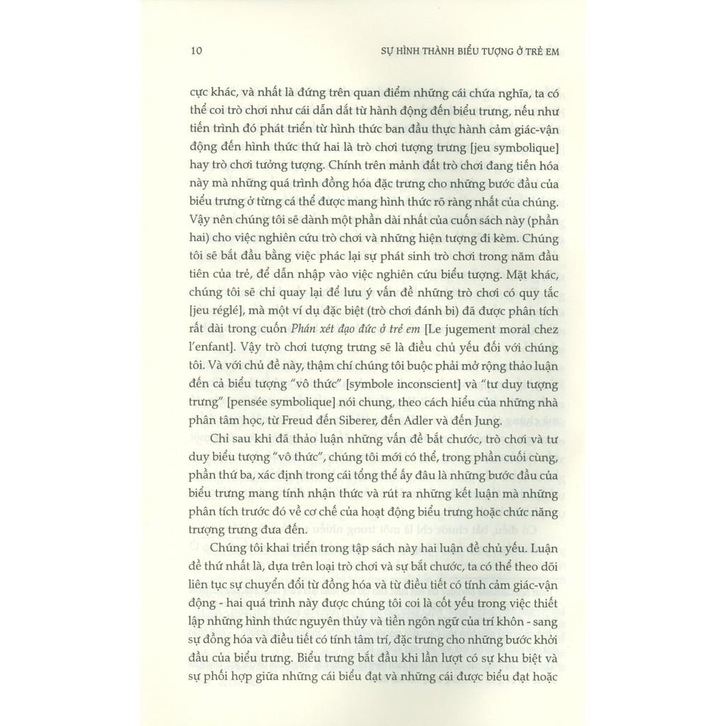 Sách - Sự Hình Thành Biểu Tượng Ở Trẻ Em - Bắt Chước, Trò Chơi Và Giấc Mơ, Hình Ảnh Và Biểu Tượng