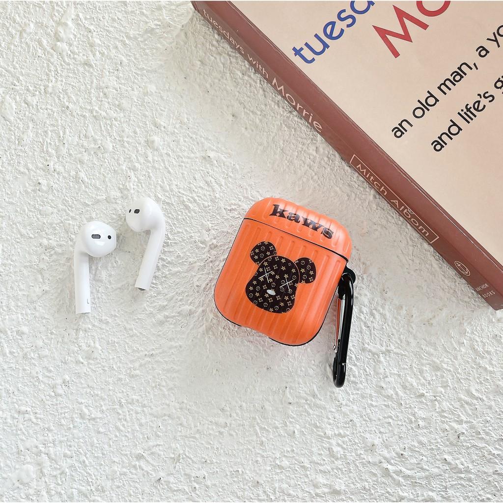 Vỏ Bảo Vệ Hộp Đựng Tai Nghe Airpod In Hình Chú Gấu Hoạt Hình Đơn Giản