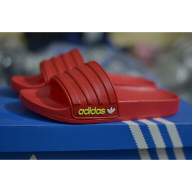 Dép quai ngang nam nữ Adidas Full đỏ 2869