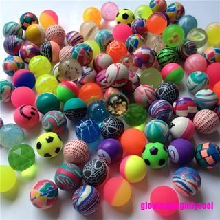 Gbvn 10 Pcs Mixed 30mm Bounce Balls Multi-Colored Elastic Juggling Jumping Balls Toy Adore