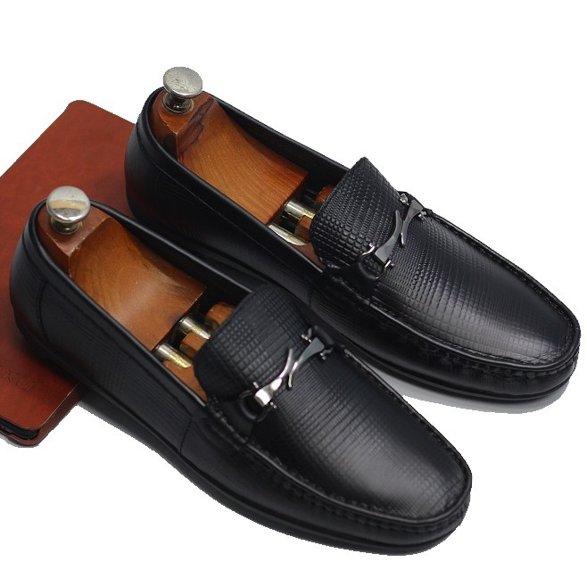 Giày lười nam da bò cao cấp bảo hành 12 tháng R07