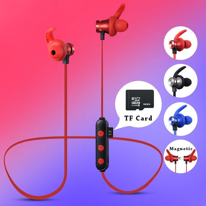 Tai nghe Bluetooth thể thao hỗ trợ thẻ nhớ TF có nam châm