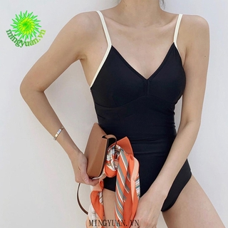 2020 Women Swimwear Strings Hanging Straps Swimsuit Conservative Sexy Korean Style Swimsuit One Piece Hanging Rope thumbnail