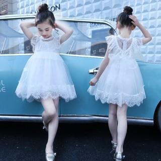 Váy bé gái | đầm công chúa viền ren cực xinh [3-12 tuổi]