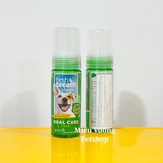Bọt vệ sinh răng miệng Tropiclean Fresh Breath Oral Care Foam chai 133ml cho chó mèo thumbnail