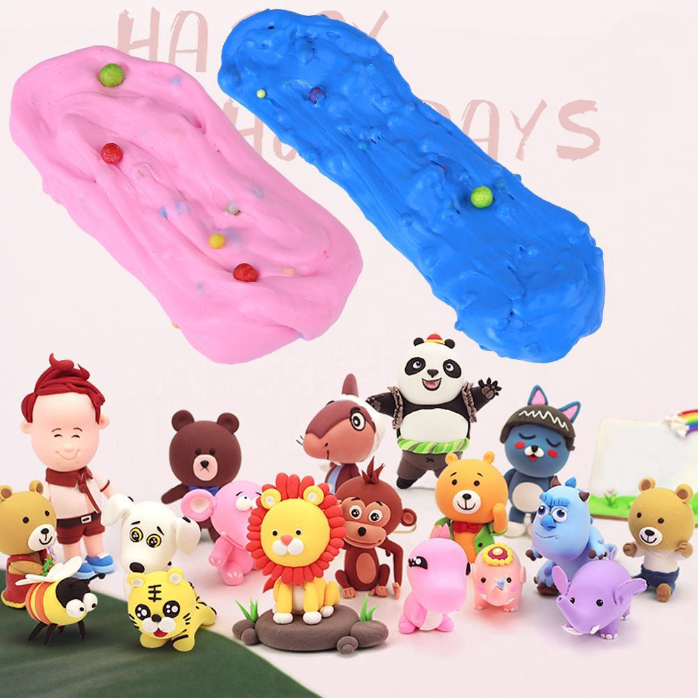 DIY Soft Fluffy Slime Stress Relief Plasticine Mud Clay Toy