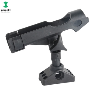 Sport Planet Fishing Support Rod Holder Bracket Kayaking Yacht Fishing Tackle Tool 360 Degrees Rotatable Rod Holder with Screws for Boat