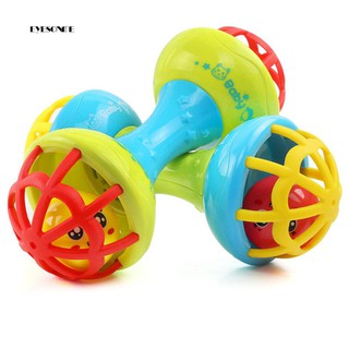 ♕Multicolor Baby Teether Rattle Toy Grasping Gums Hand Bell Educational Gift