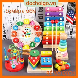 Combo đồ chơi gỗ phát triển trí tuệ 4 – 6 món, dochoigo.vn
